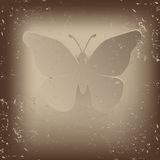 Vintage butterfly -  illustration Royalty Free Stock Photo