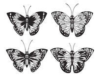 Vintage Butterfly set. Stock Photos