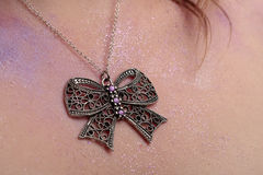 Vintage butterfly shaped necklace Stock Image