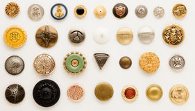 Vintage buttons. Collection of vintage buttons, big and small Royalty Free Stock Images