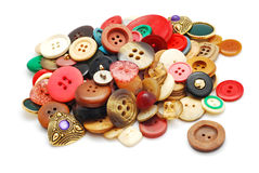 Vintage buttons collection Royalty Free Stock Image