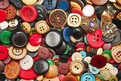 Vintage buttons collection Royalty Free Stock Photo