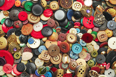 Vintage buttons collection Stock Photo