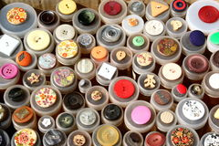 Vintage buttons, flea market, Germany. Royalty Free Stock Photography