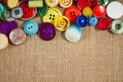 Vintage buttons frame Royalty Free Stock Photo