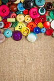 Vintage buttons frame Royalty Free Stock Photography