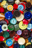 Vintage buttons. A great variety of colorful vintage buttons stock photos