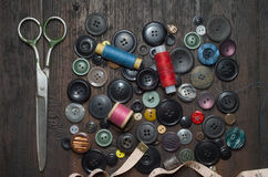 Vintage buttons stock photography