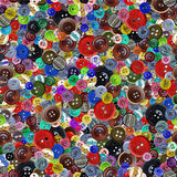 Vintage buttons seamless pattern Stock Photography