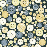 Vintage buttons seamless vector pattern. Royalty Free Stock Photos