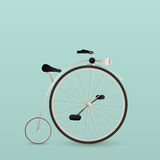 Vintage bycicle. Card, retro art Royalty Free Stock Photography