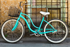 Vintage bycycle with basket Royalty Free Stock Photography