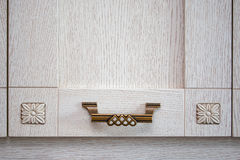 Vintage cabinet handle made of metal Royalty Free Stock Photos