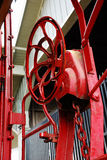 Vintage Caboose Wheel. At Railroad Museum Royalty Free Stock Photo