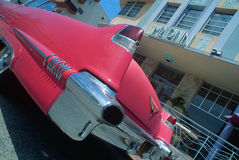 Vintage Cadilac in South Beach Miami, FL Royalty Free Stock Image