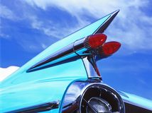 Vintage Cadillac. Antique Cadillac fin jutting into air stock photography