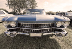 Vintage cadillac frontview stock image