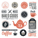 Vintage Cafe and Bakery Designs Stock Images