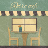 Vintage Cafe. Interior side view Stock Images