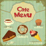 Vintage Cafe Menu Stock Image