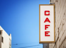 Vintage Cafe Sign Stock Images