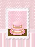 Vintage cake background pink vector illustration