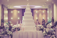 Vintage Cake decorate for Wedding Ceremony Stock Photos