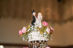 Vintage Cake decorate for Wedding Ceremony Royalty Free Stock Photography