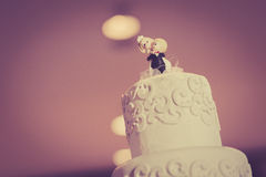 Vintage Cake decorate for Wedding Ceremony Royalty Free Stock Photos
