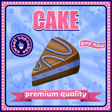 Vintage cake poster. Royalty Free Stock Image
