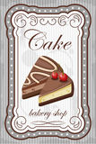 Vintage cake poster.  Royalty Free Stock Photo