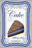 Vintage cake poster. Stock Photos