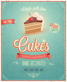 Vintage Cakes Poster. Stock Photos