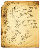 Vintage calculations Stock Images