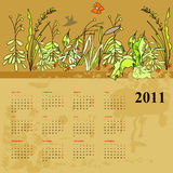 Vintage calendar for 2011 Royalty Free Stock Images