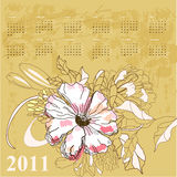 Vintage calendar for 2011 Royalty Free Stock Photos