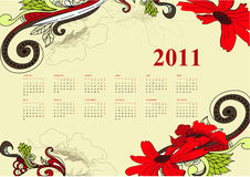 Vintage calendar for 2011 Royalty Free Stock Photography