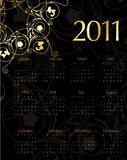 Vintage calendar for 2011. In editable  format Stock Photo