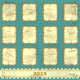 Vintage calendar 2012 Stock Photography