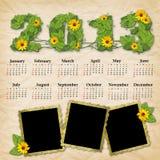 Vintage calendar 2013 Stock Photo