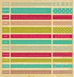 Vintage calendar for 2015. Colored Vintage calendar for 2015 Royalty Free Stock Photography