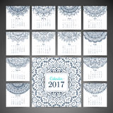 Vintage calendar 2017 Royalty Free Stock Image