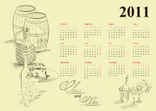 Vintage Calendar For 2011 Stock Image