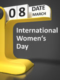 Vintage Calendar International Womens Day Royalty Free Stock Images