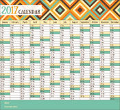 2017 vintage calendar royalty free illustration