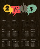 Vintage calendar 2015. Vector. Vintage calendar 2015. Vector illustration Royalty Free Stock Photos