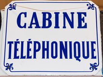 Vintage call box sign Royalty Free Stock Photos