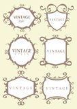 Vintage calligraphic border Stock Images