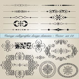 Vintage calligraphic design elements Royalty Free Stock Photos