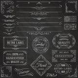 Vintage Calligraphic Design Elements Royalty Free Stock Photos